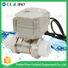 controllo di sfera elettrico nichelato d'ottone bidirezionale PP-R con la valvola motorizzata azionatore