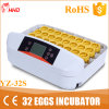 Piccola incubatrice chiara Yz-32s del pollo di Candler dell'uovo dei 32 LED