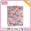 Do presente revestido cor-de-rosa da arte das crianças da borboleta sacos de papel