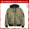 Оптовая изготовленный на заказ куртка бомбардировщика зеленого цвета армии вышивки дешево (ELTWBJI-14)