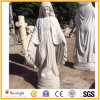 Skilled Workers Carved White Marble Religion Sculpture Virgin Mary Rules