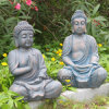 Resina barata Buddha de la antigüedad del jardín de la venta caliente