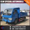 Dongfeng 3ton 4ton 쓰레기꾼 덤프 팁 주는 사람 트럭