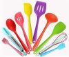 Prime colorée 10 parties dans les outils anti-caloriques et des ustensiles de 1 de pinces de spatule de cuillère réglée de Turner cuisine de silicones