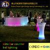 プラスチックラウンジの家具LED棒を変更するRGBカラー