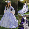 R-021 19 Century Vintage Costume 1860 년대 Victorian Lolita/Civil War Renaissance Dress Halloween Dresses All Size