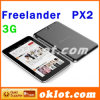 Freelander PX2 Tablet PC GPS Mtk8389 de 7 pulgadas a 1,2 Ghz Quad Core Android 4.2 Dual SIM Doble Cámara 5.0MP