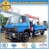 Van de Lader van Dongfeng de 10 Ton Van uitstekende kwaliteit van de Vrachtwagen van de Aanhangwagen Opgezet met de Kraan van 5 T