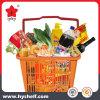Panier en plastique pour le pique-nique à la maison utilisé pour le supermarché