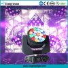 éclairage mobile d'étape de la tête DEL de lavage de faisceau de 19X15W RGBW DMX