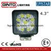 indicatore luminoso quadrato del lavoro di 4.3inch Epistar LED per la raccolta dell'automobile (GT1007-27W)