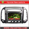 Auto DVD Player voor Pure Android 4.4 Car DVD Player met A9 GPS Bluetooth van cpu Capacitive Touch Screen voor Fe van de Kerstman van Hyundai New (advertentie-7031)