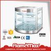 Горячая продажа изогнутой стеклянной потепления витрина для питания (HW-350A)