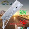 1개의 태양 LED 가로등에서 최신 판매 50W 전부