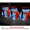 La festa acrilica del pupazzo di neve LED illumina la decorazione di natale