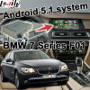 BMW F01 7 시리즈 CIC 시스템 미러 링크 Youtube Waze를 위한 인조 인간 GPS 항법 상자 영상 공용영역