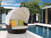 Daybed esterno del rattan dei Loungers di Sun della mobilia