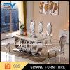 Mobília da tabela que janta tabela de jantar de mármore ajustada da tabela