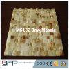 Backsplash de mosaico de Onyx blanco / amarillo / verde para la decoración de la pared de la cocina