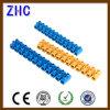 Parafuso de plástico elétrico de tipo H Conector de bloco de terminais de trilho DIN