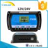 30A 12V / 24V LCD Display controlador de carga solar para bateria de painel solar com USB 5V / 3A Rtd-30A