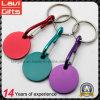 Kundenspezifische bunte Metalllaufkatze-Münzen-Schlüsselkette mit Carabiner
