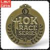 Медаль бега бронзы 10k верхнего качества изготовленный на заказ античное