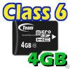 Micro cartão 4GB de SDHC