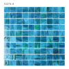 Tegels van het Mozaïek van het Glas van de luxe de Blauwe Vierkante