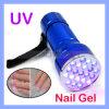 21 LED UV Negro luz ultravioleta del gel Tintas lámpara Scorpions Detección linternas (TORCH-03)