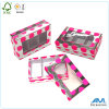 Square Shape Sliver Printed Glossy Gift Tea Paper Box with Clear Window