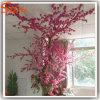 아름다운 실내 인공적인 실제적인 Tunk 복숭아 꽃송이 나무