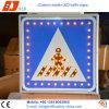 Знак лампы островка безопасност солнечной силы СИД, предупредительные знаки безопасности движения
