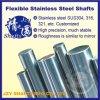 SUS304 de flexibele Hoge Precisie van de Staaf van de Schacht van het Roestvrij staal Stevige Ronde