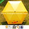 Fördernde drei Falten-Regenschirme mit kundenspezifischem Firmenzeichen (FU-3621B)