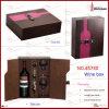 Het elegante Geval van de Wijn van het Leer van het Ontwerp Pu van het Patroon (5730)