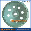 4  4.5  5  7  roda de moedura do copo do diamante da roda PCD do copo da fileira do redemoinho da qualidade superior