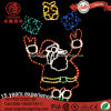LED Silhouette 114cm Multicolore Père Noël et Présent Chères Feuilles de Cordes Light