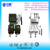 2 relés Receptor Abrepuertas 433.92MHz Soporte de código de rollo y transmisor de código fijo