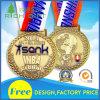Médaille en alliage de zinc de sport en métal de récompense d'or de métiers faits sur commande en métal