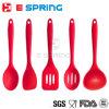 5PCS Silicone Turner Spatula Spoonula Mixing Spoon Slotted Spoon Ladle Cuisine Ensemble de cuisine Ensemble d'ustensiles de cuisine en silicone