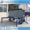 Le levage de véhicule de ciseaux hydraulique le plus peu coûteux avec les pneus mobiles de levage