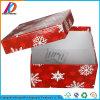 حمراء ورقيّة ورق مقوّى عيد ميلاد المسيح [جفت بوإكس] مع غطاء