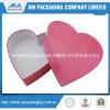 Lujo al por mayor Pacakging del rectángulo de regalo del papel del color de rosa de la dimensión de una variable del corazón