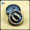 Nouveau bouton de trous en bois 2 de noir de nature du modèle 20mm