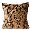 黒いペーズリーのシュニールヨーロッパのデザイン装飾的な枕ケース