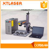 Máquina portátil da marcação do laser da fibra em selos comuns com os costumes padrão