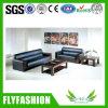 Design clássico mobiliário de escritório sofá de couro genuíno definido (de-02A)