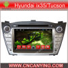 Car DVD Player for Pure Android 4.4 Car DVD Player with A9 CPU Capacitive Touch Screen GPS Bluetooth for Hyundai IX35/Tucson (AD-7004)