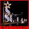 Weihnachtsmotiv-Straßen-Dekoration-Stern-Pole eingehangene Leuchten